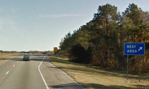 sc i20 south carolina lugoff rest area eastbound exit mile marker 93.5