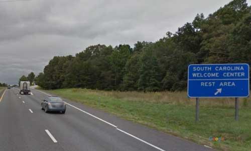 sc i26 south carolina lundrum welcome center eastbound exit mile marker 3