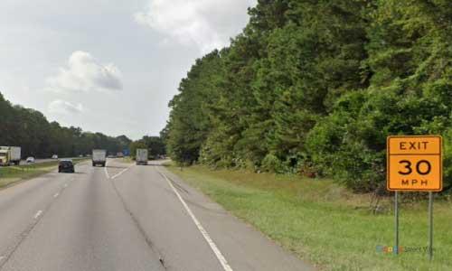 sc i26 south carolina orangeburg rest area eastbound exit mile marker 150