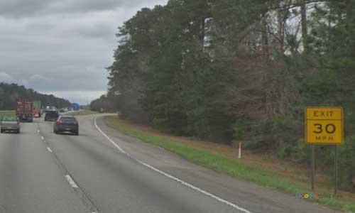 sc i26 south carolina orangeburg rest area westbound exit mile marker 152
