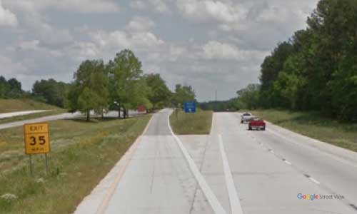 sc i385 south carolina laurens rest area southbound exit mile marker 58
