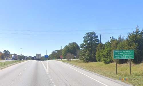 sc i85 south carolina blacksburg welcome center southbound exit mile marker 103.3